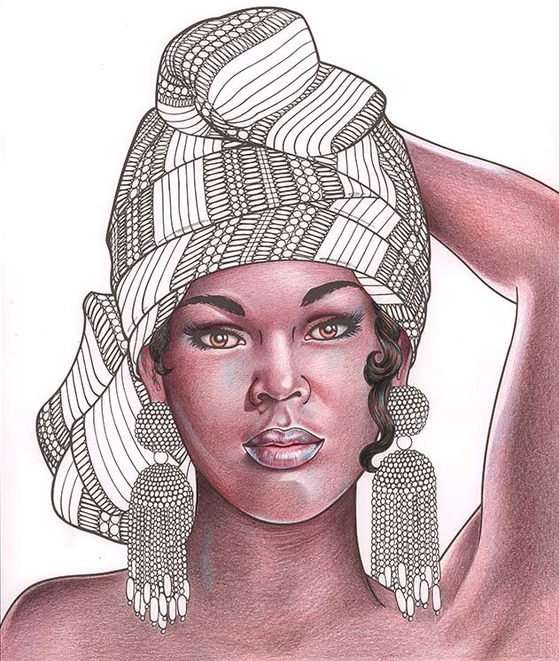 Dark brown skin tone shading tutorial