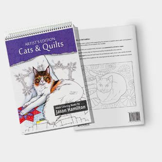 Cats & Quilts, Artist's Edition Coloring Book