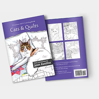 Cats & Quilts Coloring Book