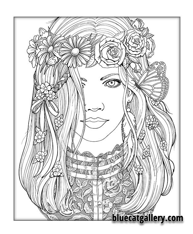 Color Me Beautiful Women Of The World Is An Adult Coloring Book That